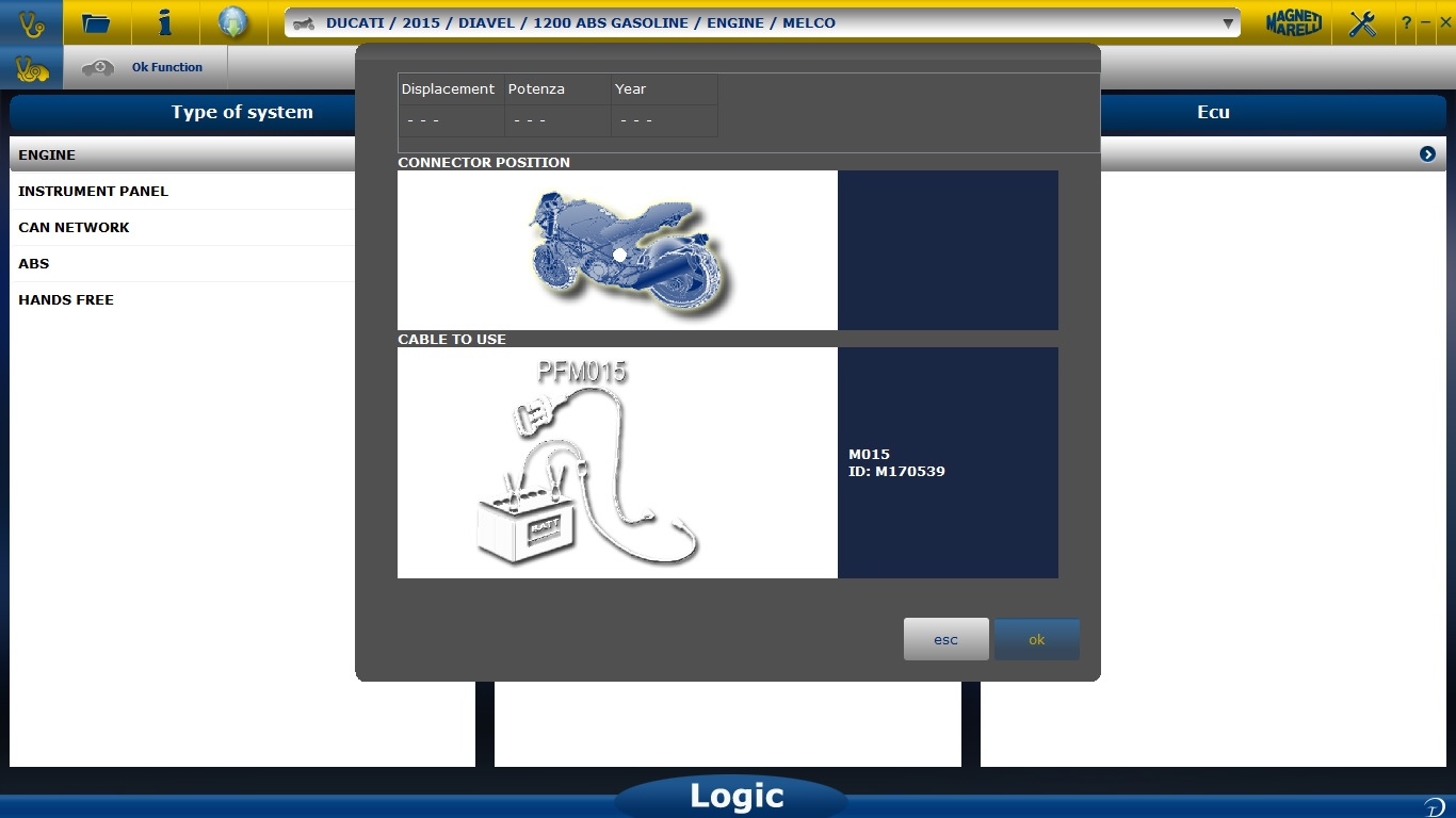 MM Logic - diagnostic for motorcycles and motorollers, cars and